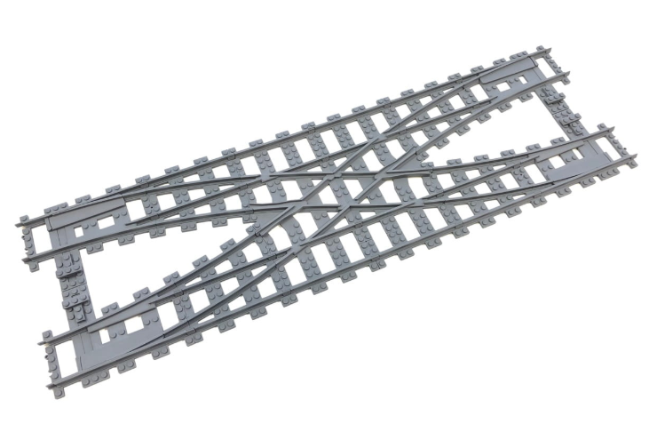 Compatibile 7996 Doppio scambio  x treno LEGO R104 , Train Rail Crossing for RC  centro commerciale online integrato professionale