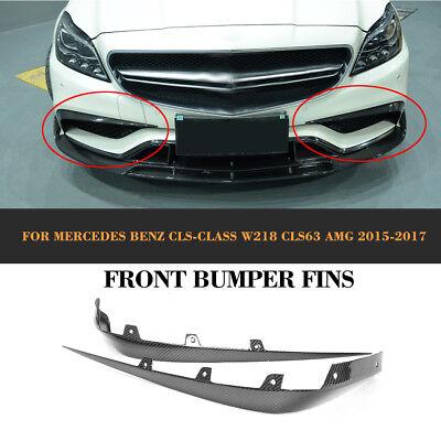 Carbon Canards Flaps Flossen Spoiler Splitter für Mercedes Benz W218 CLS63 AMG