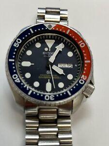 Gents-Seiko-7C43-700A-Pepsi-Scuba-Divers-Quartz-Watch-200m-Circa-1980-039-s