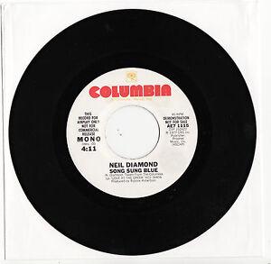NEIL-DIAMOND-SONG-SUNG-BLUE-Very-rare-1977-US-white-Label-PROMO-Single-EX