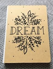 Sheffield Home Dream journal hardcover kraft brown floral lined & blank pages