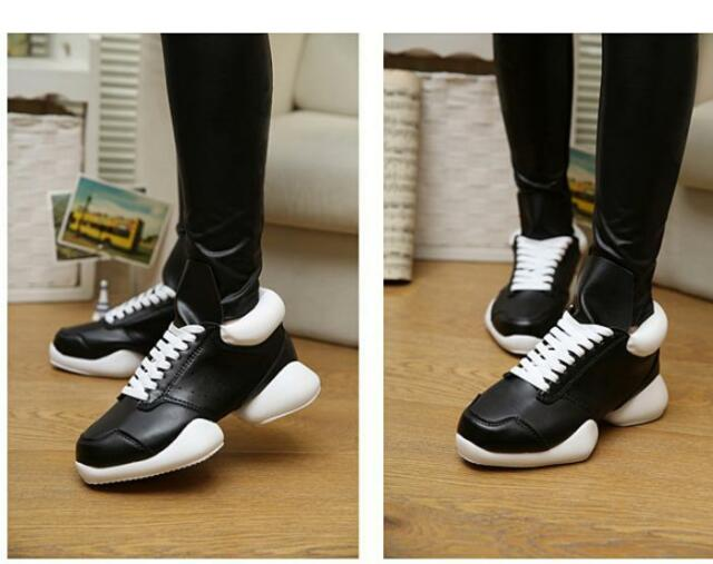 Mens new Faux leather mixed-color platform Lace up Athletic sneakers shoes