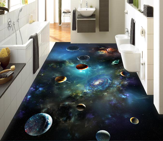 3D 3D 3D Universe Planeta Piso impresión de pared de papel pintado mural 903 Calcomanía nos AJ Wallpaper 2209b3