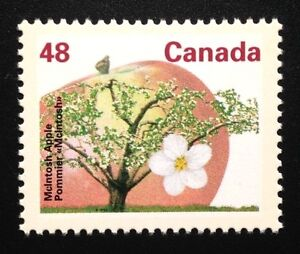 Canada-1363-CP-13-1-MNH-McIntosh-Apple-Tree-Definitive-Stamp-1991