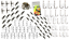 thumbnail 1 - 175 pc Sea Fishing Tackle Set to make Rigs Swivels Beads Bait Clips Hooks Crimps
