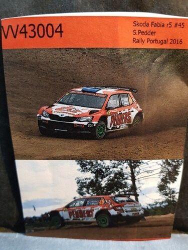 RALLYE PORTUGAL 2016 COLORADO VV43004 DECALS 1//43 SKODA FABIA R5  #45 PEDDER