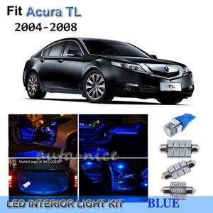 For 2004 2008 acura tl premium blue led interior lights - 2004 acura tl led interior lights ...