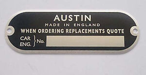 Mini-Mk1-1959-61-Chassis-Plate-Austin-Seven-Early-BMC