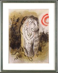 Marc-Chagall-1887-1985-Naomi-und-ihre-Schwiegertoechter-1960-gerahmt