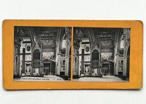 Roma Eglise St.Jean Da IN Laterano Italia Fotografia Stereo Vintage Analogica
