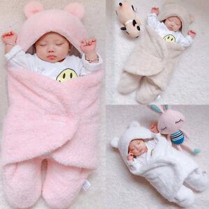 Newborn-Infant-Baby-Cotton-Solid-Sleep-Blanket-Boys-Girls-Warm-Wrap-Swaddle-XI