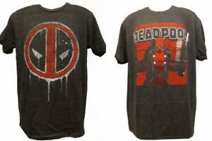 New-Deadpool-Marvel-Adult-Mens-Sizes-S-M-L-XL-2XL-Gray-Licensed-Soft-Shirt-22