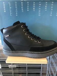 Frustrante Deshacer Oblea  Geox U Mattias B ABX Amphibiox Ankle Boots Lace Up Fashion Sneakers Shoes  Black | eBay