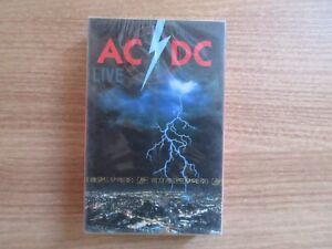 AC-DC-Live-RARE-Only-Korea-Factory-Sealed-Cassette-Tape-1992