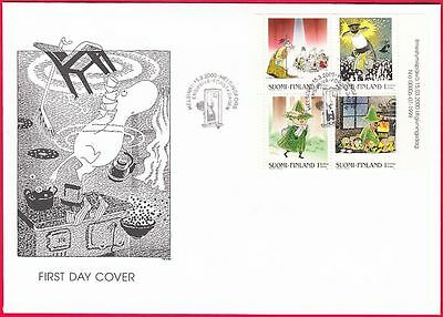 Moomin Troll Stamp Booklet Sheet Finland FDC 2000