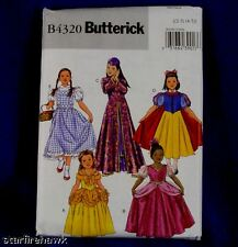 B4320 Butterick Sewing Pattern Princess Dress Costume Snow White Belle  Dorothy