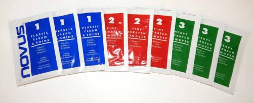 2 and 1 Scratch Remover /& Polish Combo Sample 3 Packs Each of Novus 3