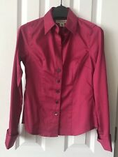 e49df537cf1 BR Banana Republic Womens Non-Iron Tailored Sateen Shirt Pink 00P Petite  XXSP