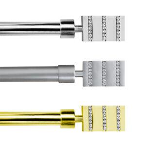 Bastone-tenda-estendibile-120-210cm-acciaio-cromato-satinato-oro-asta-16-anelli