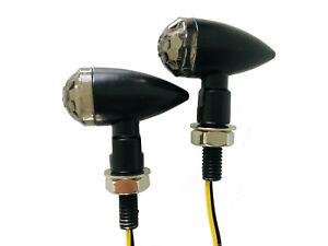 Schwarze-Bullet-Mini-Blinker-Motorrad-12V-LED-2-Stueck-1-Paar-E-Pruefzeichen