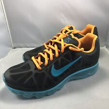 Mens Nike Air Max 2011 N7 Black turquoise vivid Orange Sz