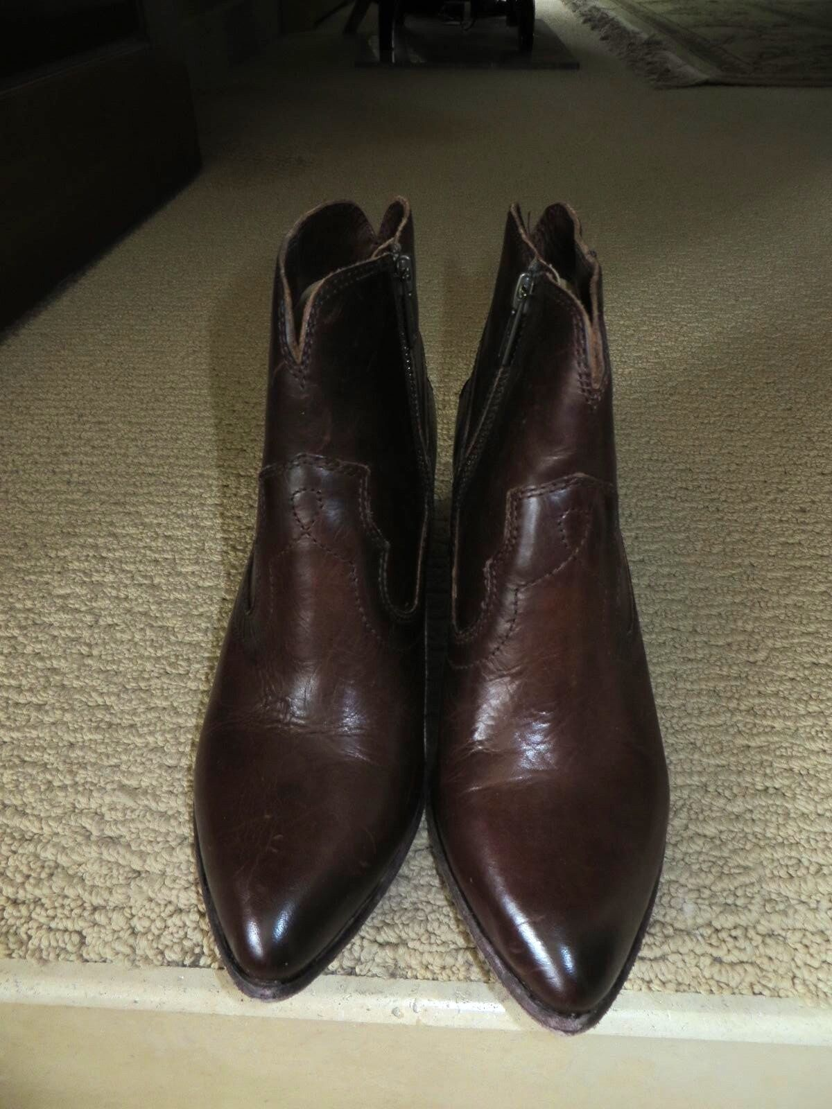 Women's FRYE Brown Leather Ankle Boots Boots Boots Renee Seam Short Brand New Box  Size 6.5 6b0498