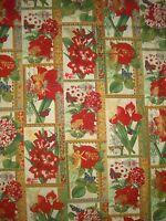 Hoffman Christmas Botanical Quilt,sew, Fabric J9238-33 Cream