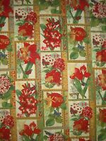 Hoffman Christmas Botanical Quilt,sew, Fabric J9238-33 Cream