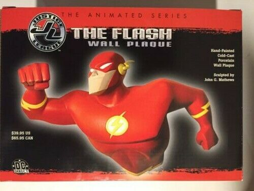 The Flash Porcelain Wall PlaqueJustice League Animated SeriesHTF Open Box