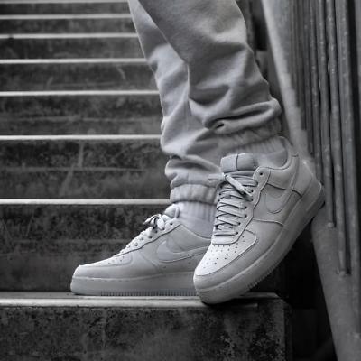 BQ4329001 Nike Air Force 1 homme taille 12 Baskets Loup en daim gris édition limitée | eBay