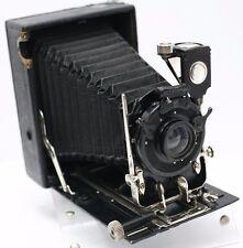 Rare Working Ernemann Heag II Series II 9 x 12cm. Sheet Film Folding Bed Camera