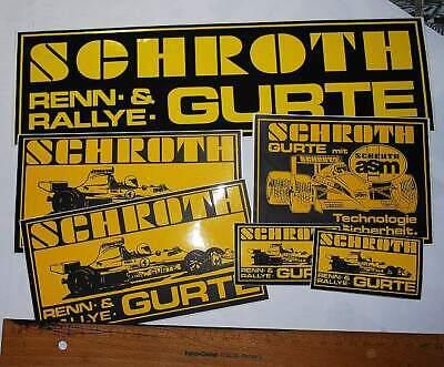 "Aktiv Rallye - Sport Aufkleber Konvolut ""schroth-racing"" Ein BrüLlender Handel"