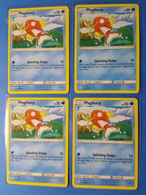 Magikarp Reverse Holo S/&M: Burning Shadows Pokemon TCG 32//147 Common