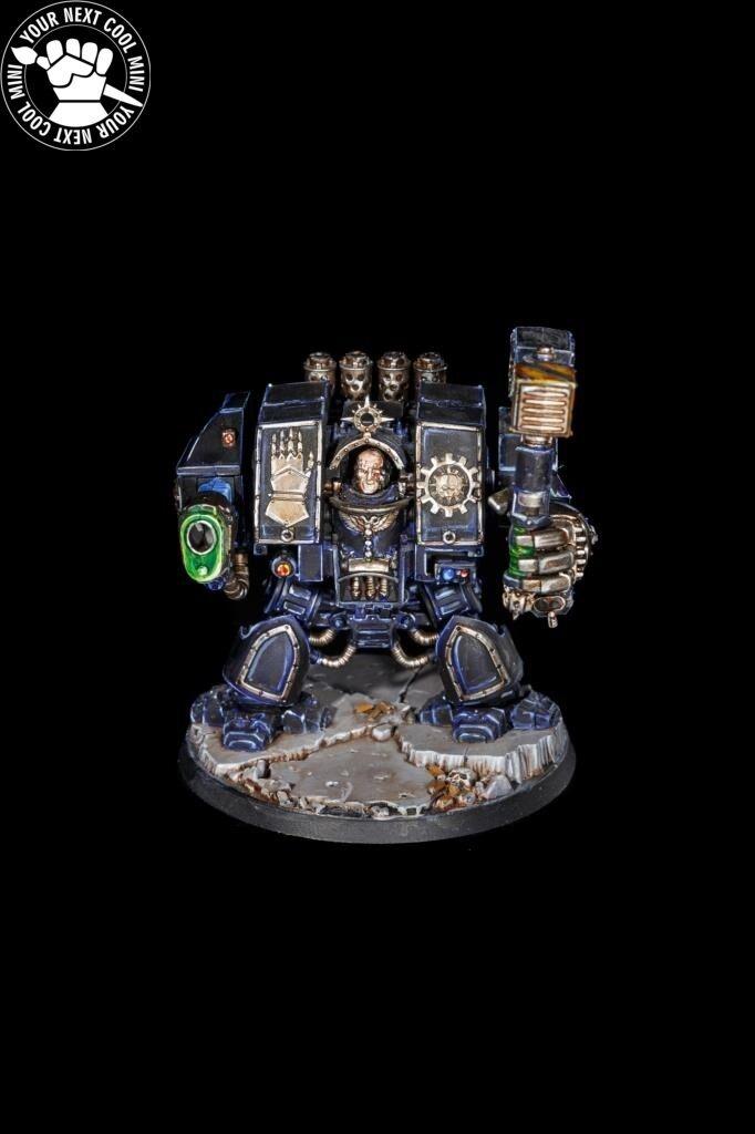 Warhammer 40K spazio Marine Dreadnought,  Iron Hes, 1 PRO PAINTED mini mag hes  risparmia il 35% - 70% di sconto