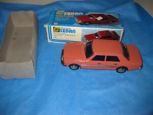 Friction Sedan Mercedes Benz Voiture MF 254 Toy Tin Metal in Box Red NEW in Box