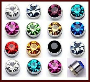 24Pc-X-4mm-5mm-Magnetized-Earring-Crystal-Mens-Magnet-Earring-Mixed-Color-E009