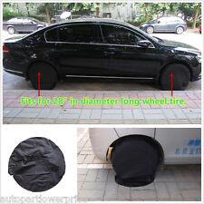 """Set di 4 Nero Pneumatico Della Ruota Pneumatico copre AUTO/CAMPER/rimorchio camper per pneumatico 28"""" di diametro"""