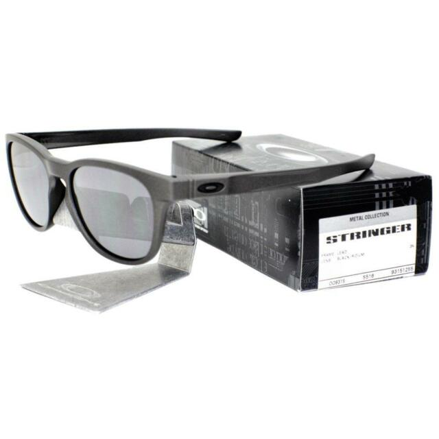 a6d835c796 Oakley OO 9315-1255 METAL COLLECTION STRINGER Lead Black Iridium Men  Sunglasses