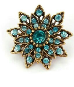 Brooch-Small-Turquoise-Vintage-Style-Flower-Brooch-Fashion-Brooch-Wedding-Brooch