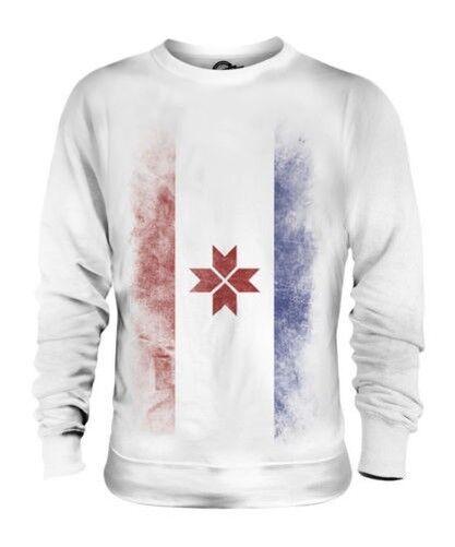 Mordwinien Verblichen Flag Unisex Pullover Top Fußball Geschenk Kleidung Jersey