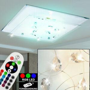 Deckenlampe 15 Farben RGB LED Glas Esszimmer Farbwechsel Leuchte Fernbedienung