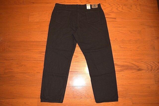6fbc5b5a WRANGLER - 5 Star Premium Denim RELAXED FIT Black Jeans - Men Size 46 x 32