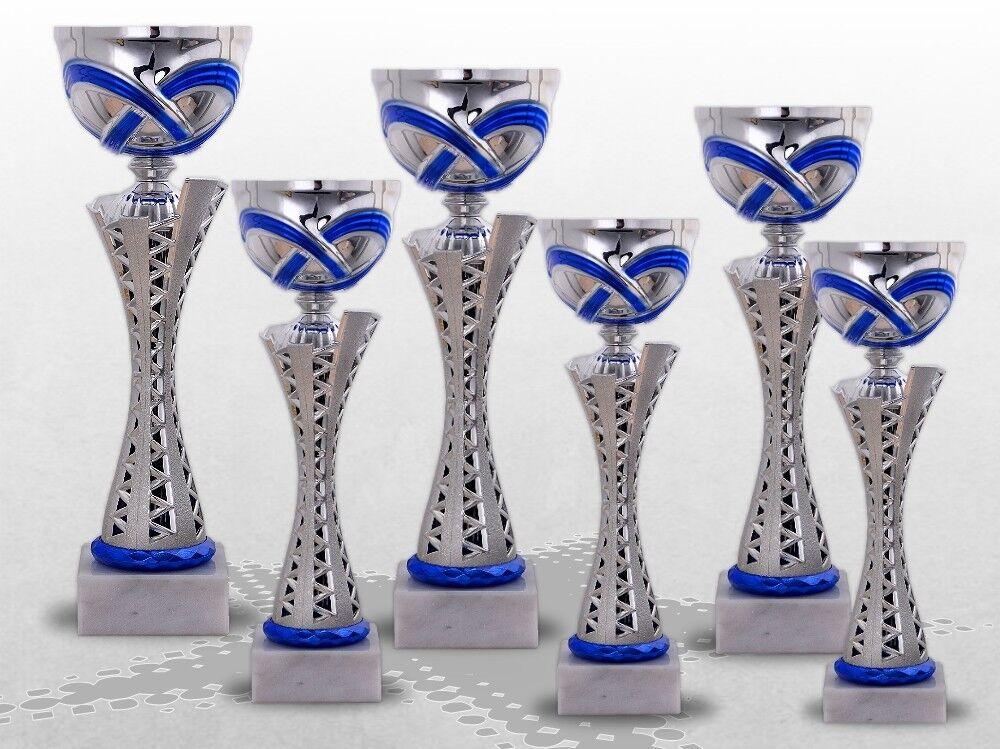 Pokale MONTANA Blau mit Gravur günstig günstig günstig kaufen in 6 Pokalgrößen lieferbar 2b1ce1