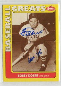 Bobby Doerr 1991 Swell signed auto autographed card Boston Red Sox