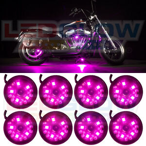 LEDGLOW 8PC PINK POD LED MOTORCYCLE NEON UNDERGLOW #1: s l300
