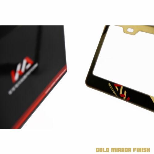 KA T304 Stainless Steel 8K Polish Gold Chrome License Plate Frame Holder Bracket