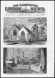 1881-Antique-Print-LORD-BEACONSFIELD-Hughenden-Church-Grave-Curzon-Street-99
