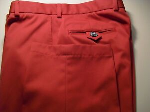 MINT-BROOKS-BROTHERS-COUNTRY-CLUB-PROSPORT-FLAT-FRONT-PANTS-RED-33X30