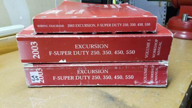 Ford Workshop Manual Set For 2003 Super Duty