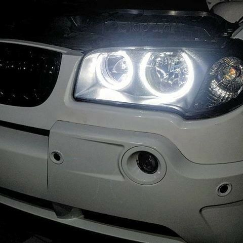 LED SMD Xenon White 6000K Angel Eye Halo Ring DRL kit For 04-10 BMW E83 X3